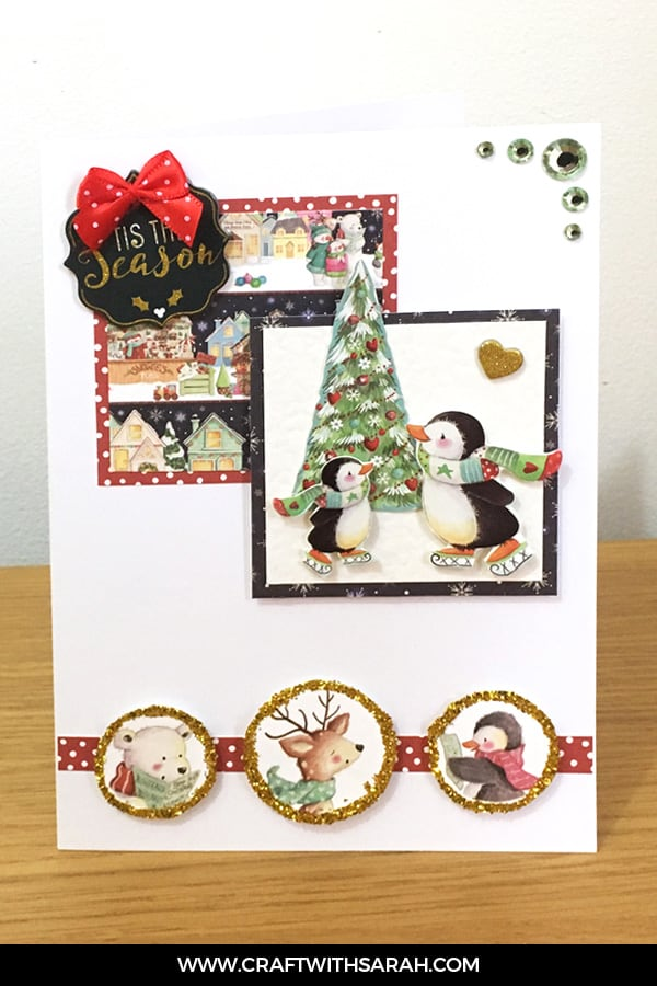 Card sketch 2 sample card. Card making inspiration from Craft with Sarah.