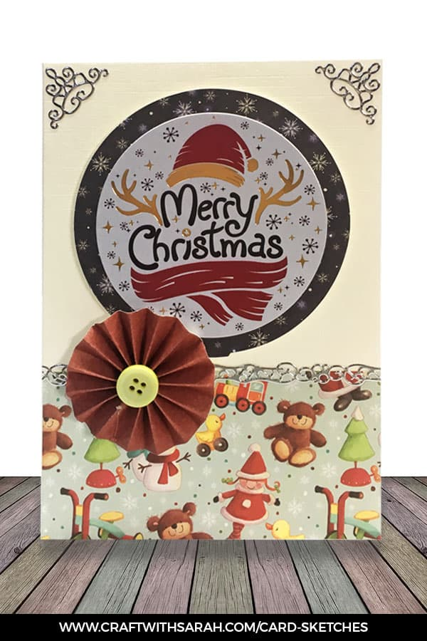 Card sketch 4 sample card. Card making inspiration from Craft with Sarah.