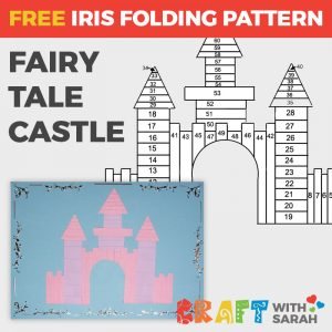Fairy Castle Iris Folding Pattern