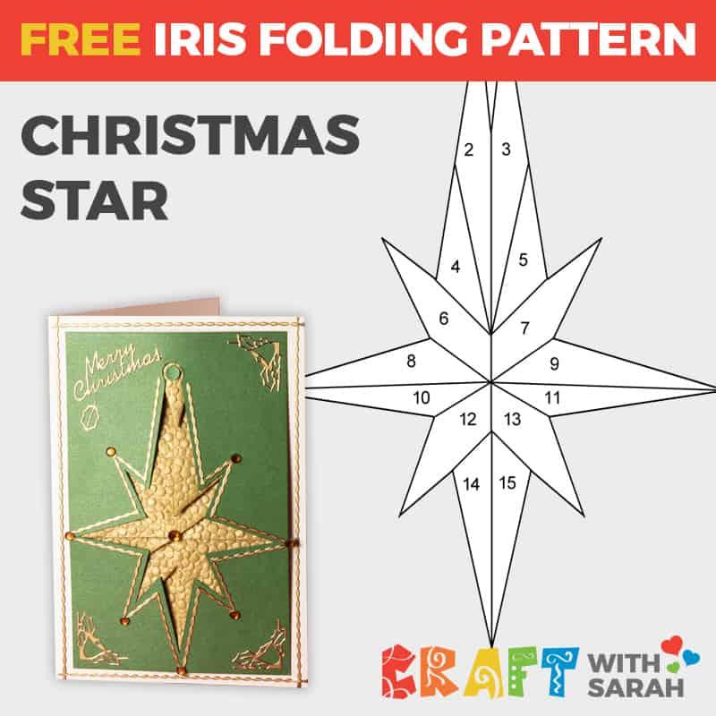 Christmas star iris folding