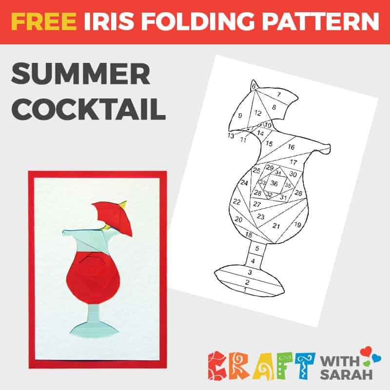 Summer Cocktail Iris Folding Pattern