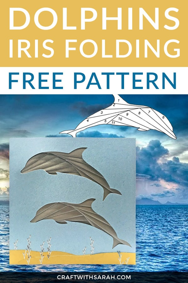 Craft your way to the ocean with this free dancing dolphin iris folding pattern. If you know someone who loves dolphins too, then why not make them a handcrafted dolphin greetings card for their next birthday? #irisfolding #dolphin