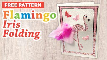 Flamingo Iris Folding Pattern
