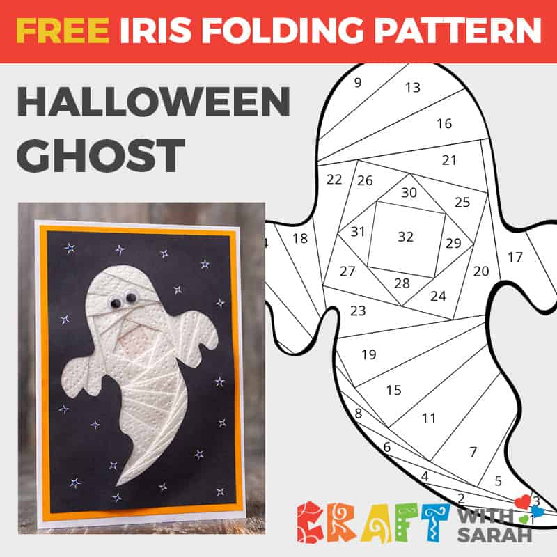 Ghost Halloween Iris Folding Pattern