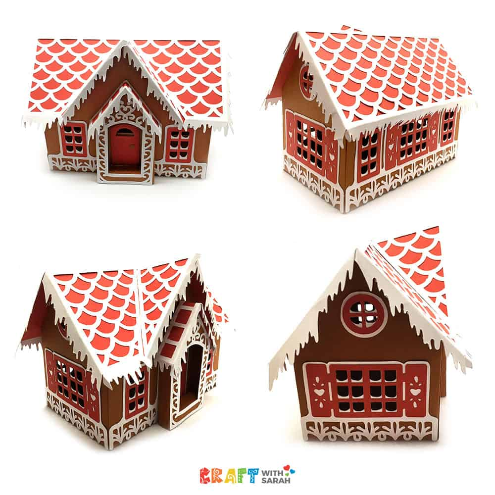 Cricut Design Space Gingerbread House SVG Paper Project