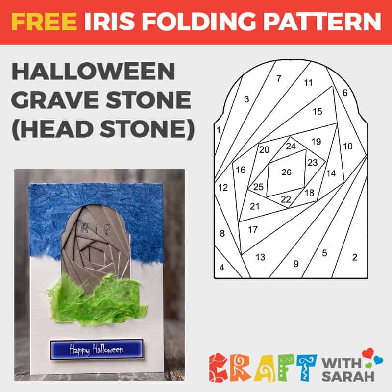 Spooky Gravestone Iris Folding for Halloween