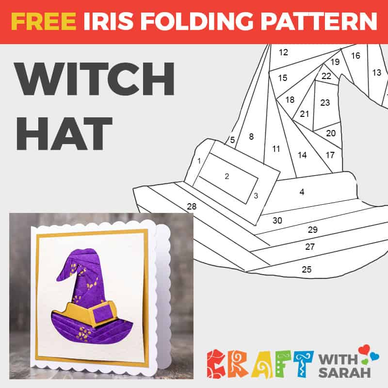 Witch Hat Iris Folding Pattern