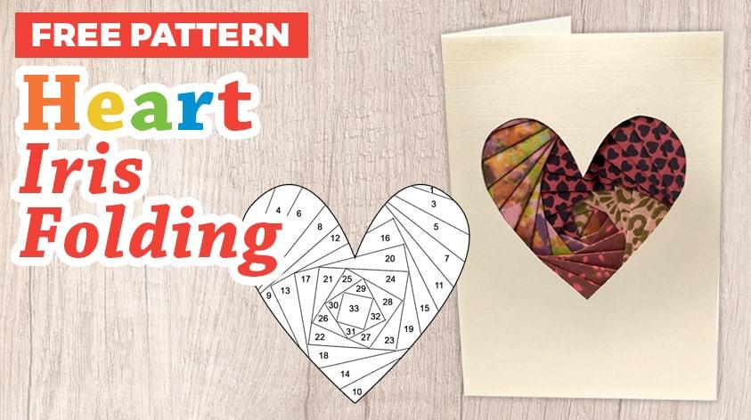 Heart iris folding pattern