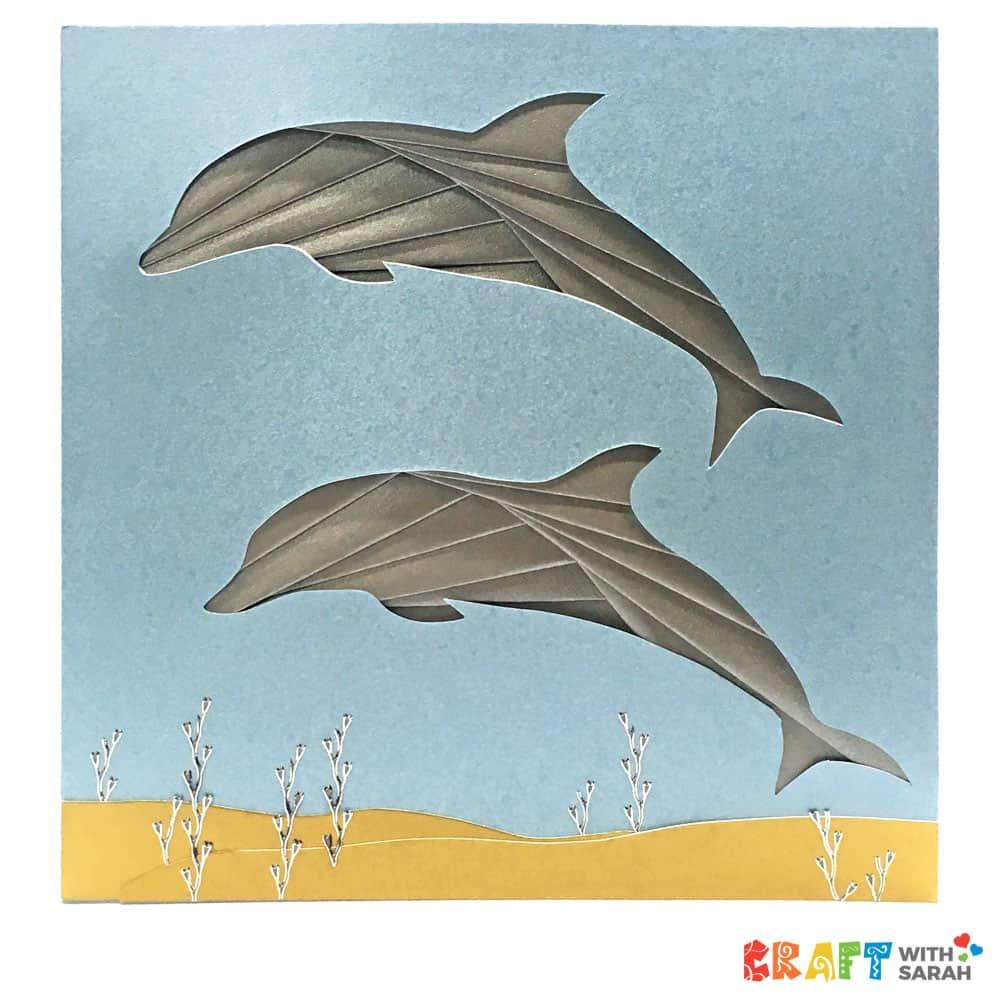 Iris folding dolphin card