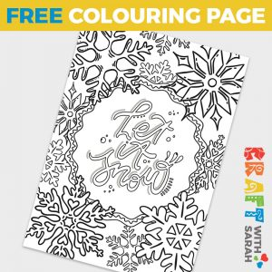 'Let it Snow' Colouring Page