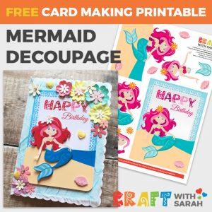 Mermaid Decoupage for Card Making