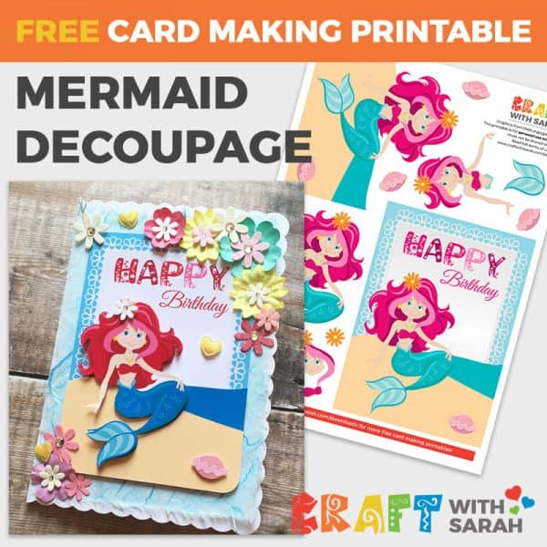 Mermaid Decoupage for Card Making