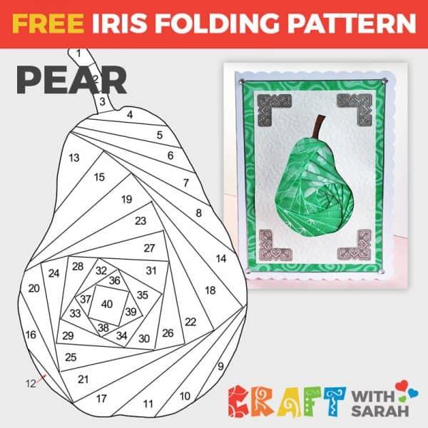 Pear iris folding pattern