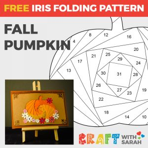 Pumpkin Iris Folding Pattern