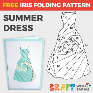 Summer Dress Iris Folding Pattern