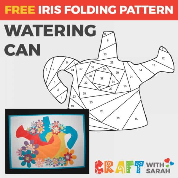 Watering Can Iris Folding Pattern