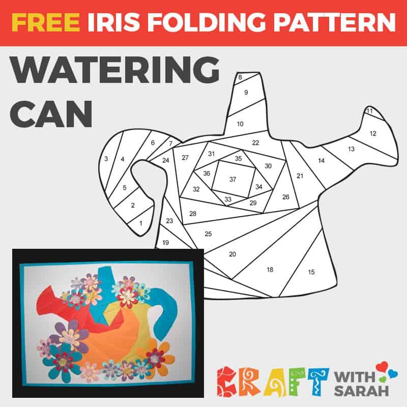Watering Can Iris Folding Pattern