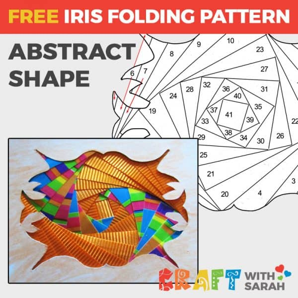 Abstract Shape Iris Folding Pattern