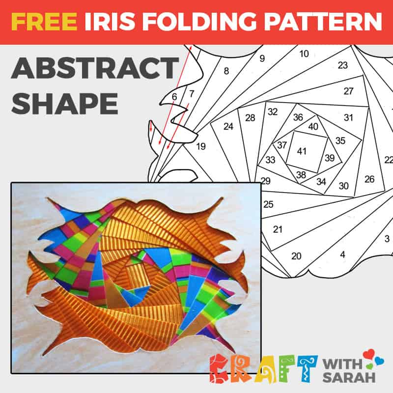 Abstract Shape Iris Folding Pattern