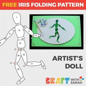 Artist's Doll Iris Folding Pattern