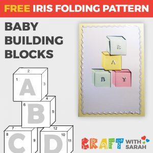 Baby Building Blocks Iris Folding Pattern