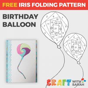 Balloon iris folding pattern