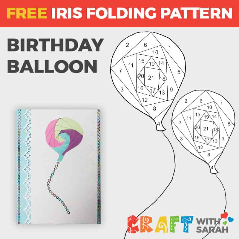 Balloon iris folding pattern