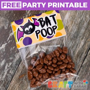 Bat Poop Printable Treat Topper