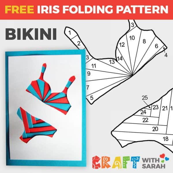 Bikini Iris Folding Pattern