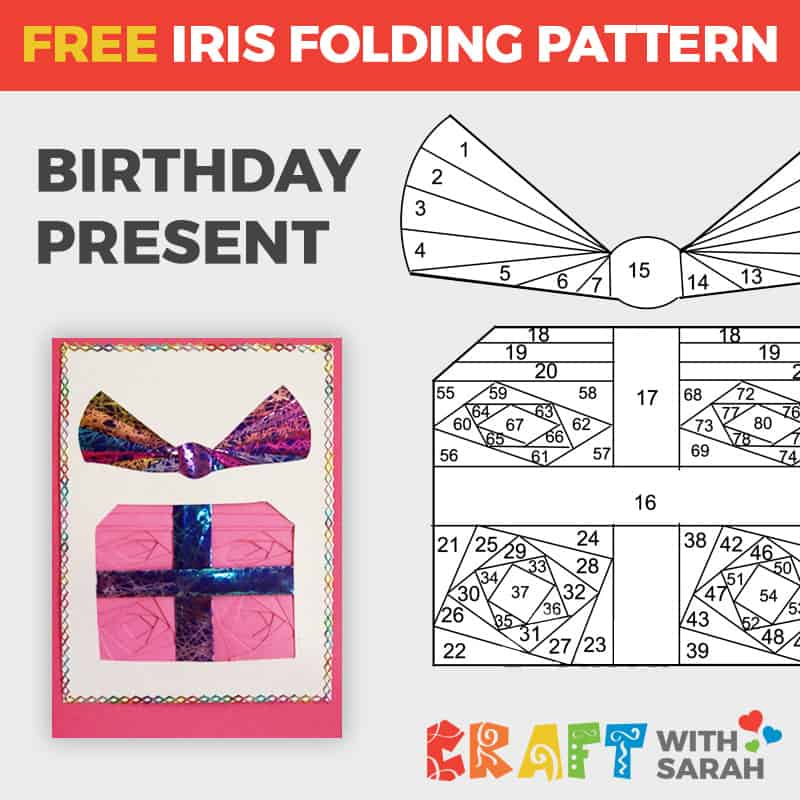 Birthday Present Iris Folding Pattern