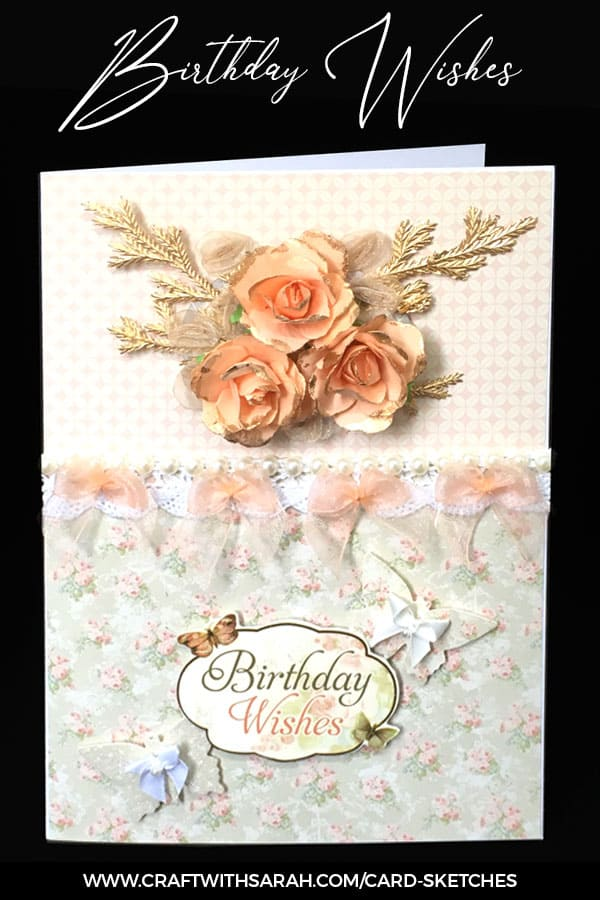 Card sketch 7 sample card. Card making inspiration from Craft with Sarah.