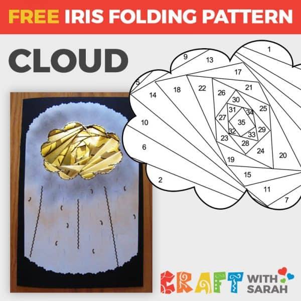 Cloud Iris Folding Pattern