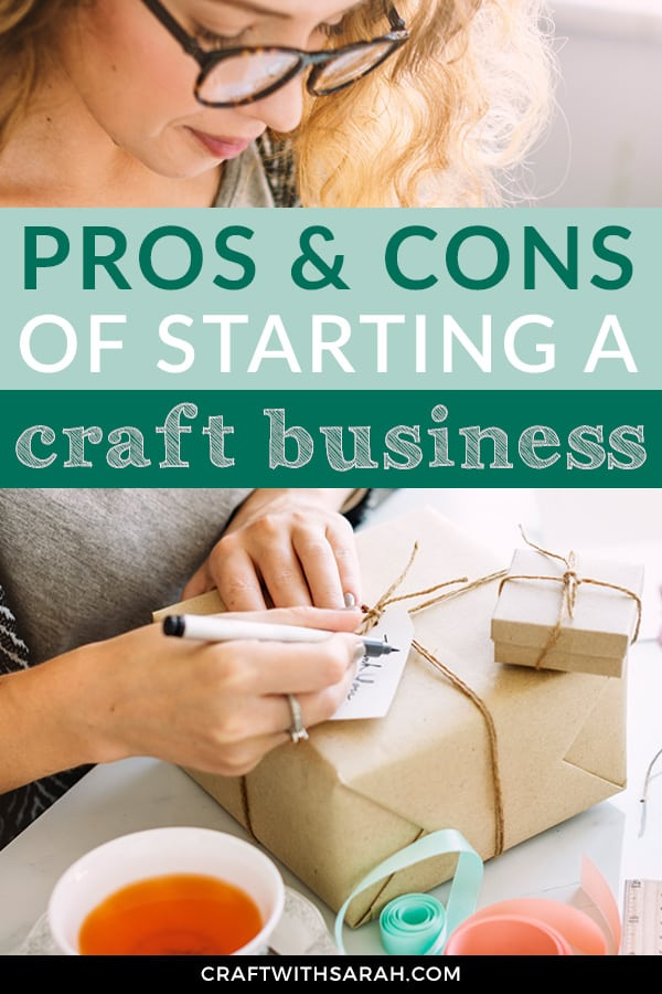 Discover the pros and cons of starting a craft business. From being your own boss and setting your own working hours to facing the loneliness of working from home and ensuring your stay productive; here's all you need to know about the pros and cons of entrepreneurship.