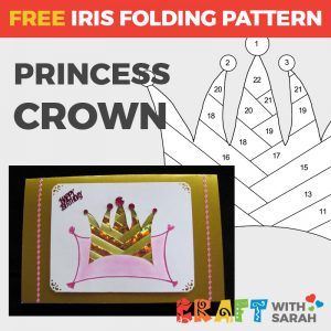 Crown Iris Folding Pattern