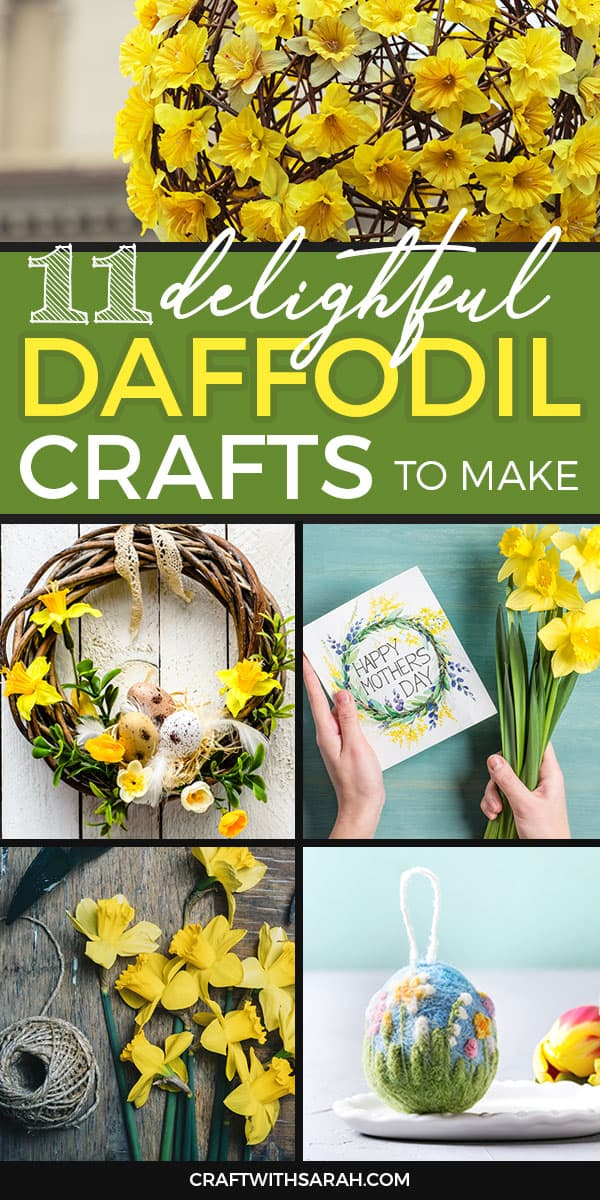 Does anything show that it's time for spring any better than the beautiful daffodil? In honour of this yellow and orange springtime beauty, here are my top picks of daffodil crafts to inspire your crafting this season.