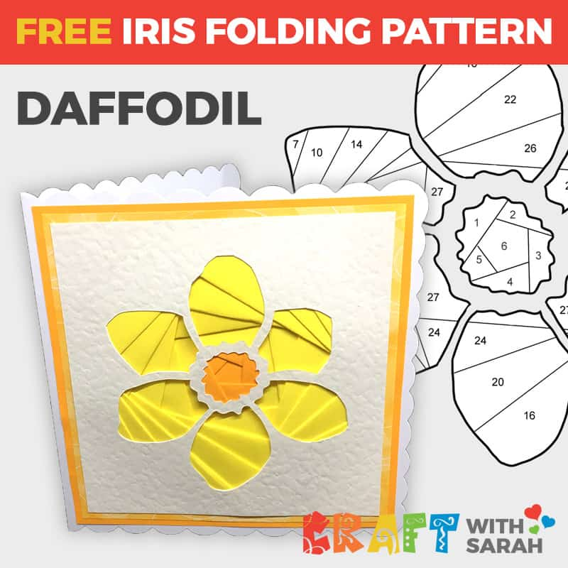 Daffodil Iris Folding Pattern