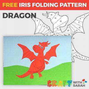 Dragon Iris Folding Pattern