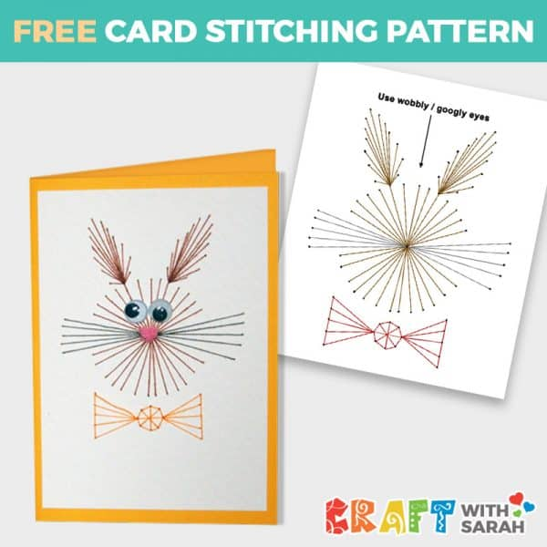 Easter Bunny Card Stitching Pattern