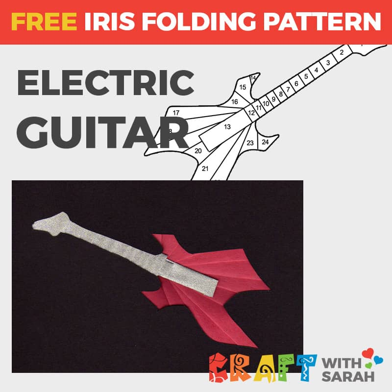 Electric Guitar Iris Folding Pattern