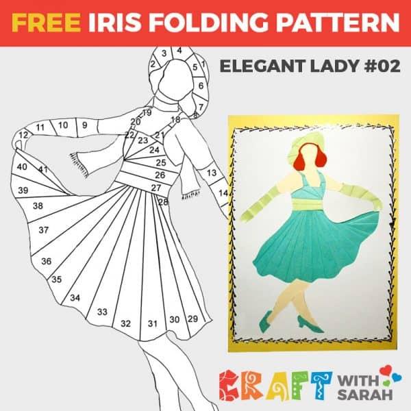 Spring dress iris folding lady