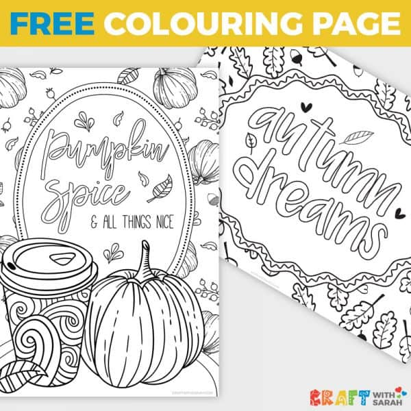 Pumpkin Spice Latte Coloring Pages