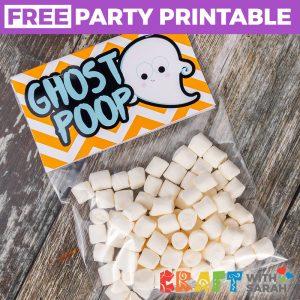 Ghost Poop Printable Treat Topper