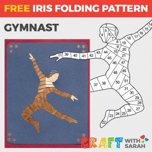 Gymnast Iris Folding Pattern