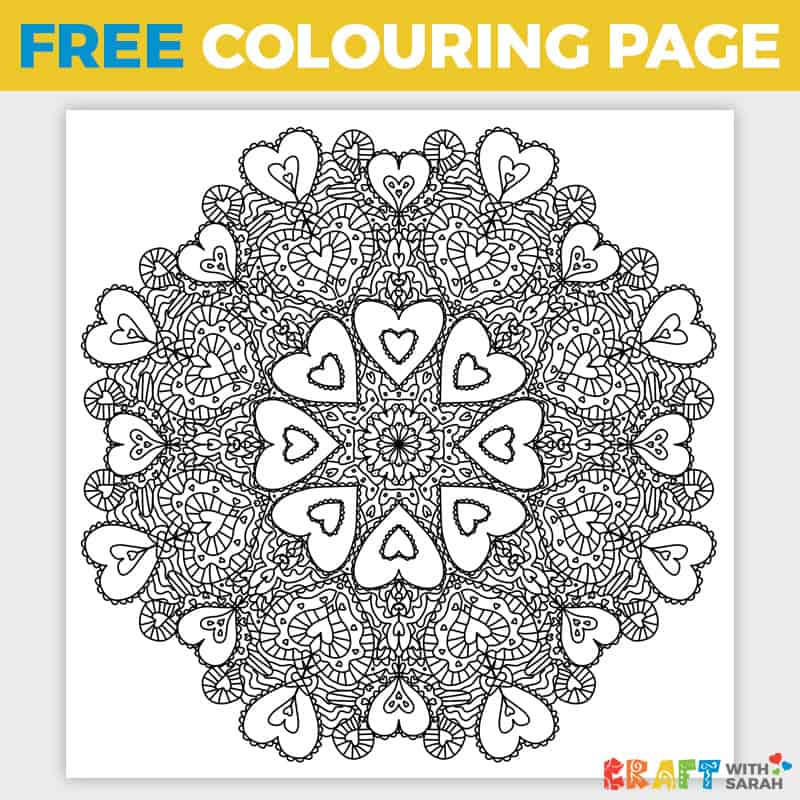 Free Valentine's Day Coloring Page Craft With Sarah