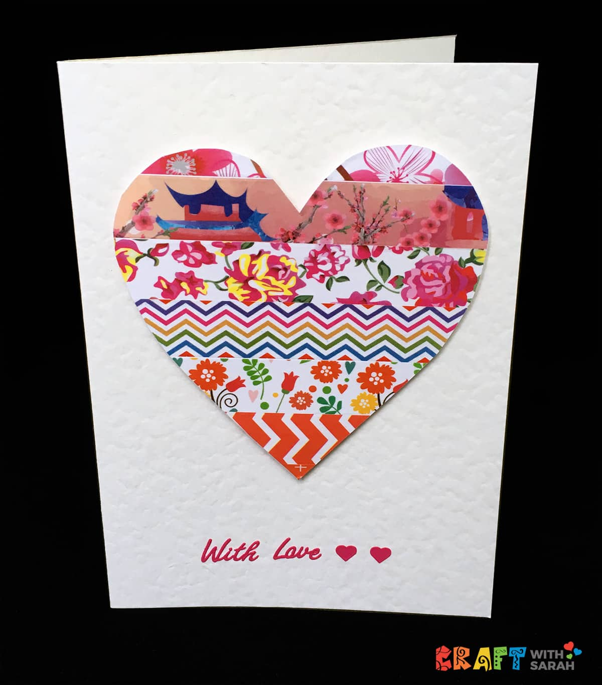 Washi Tape Heart Handmade Card