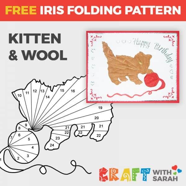 Kitten Iris folding Pattern