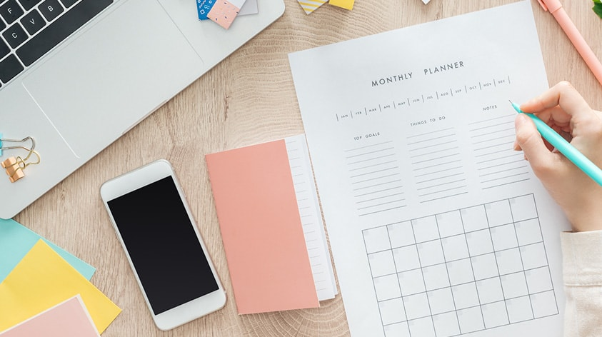 Creating a monthly plan for your small business