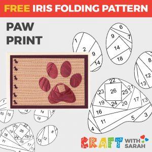 Paw Print Iris Folding Pattern