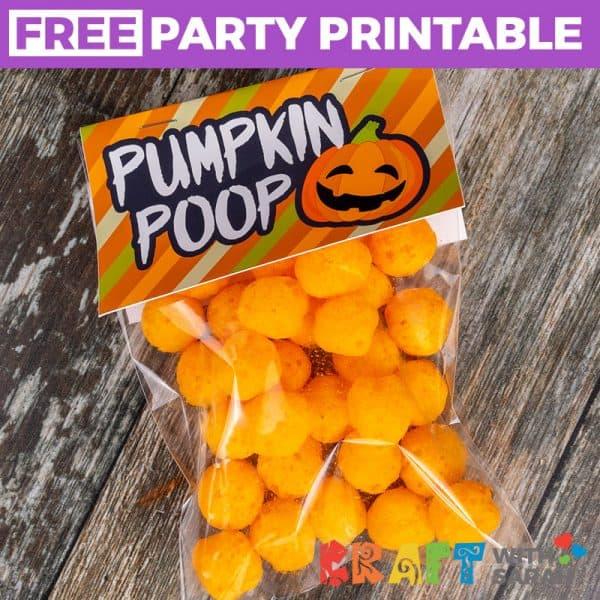 Pumpkin Poop Printable Treat Topper