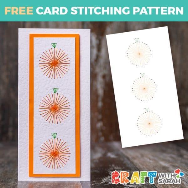 Perfect Pumpkins Card Stitching Pattern